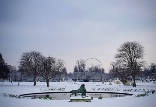 #paris #snow #winter #neige #tuileries #pentaxk30